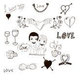 Kocha elementy rysujących ręką Fotografia Royalty Free