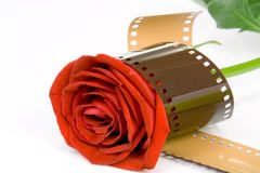 'Kocha film' zawijającego fotografia stock
