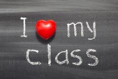 Kocha mój klasę Zdjęcia Stock