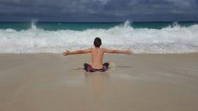 Kocha plażę Zdjęcia Royalty Free
