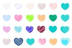 Kocha tło i kocha ikony dla kochanków i valentine Szczególnie dla walentynki karty i miłości karty Zdjęcia Stock