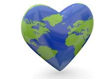 Kocha ziemię - 3D Obraz Royalty Free