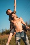 Kochająca homoseksualna para fotografia royalty free