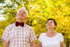 Kochająca starsza para Zdjęcie Stock