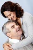 kochający para senior Fotografia Royalty Free