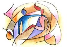 Kochająca para w abstrakta stylu ilustracja wektor