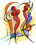Kochająca para w abstrakta stylu ilustracji