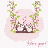 Kochające sowy Zdjęcie Royalty Free