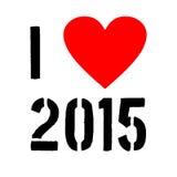 Kocham 2015 Fotografia Stock