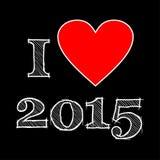 Kocham 2015 Zdjęcie Stock