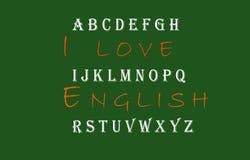 Kocham Angielskiego dorosłego Xbackground Xbillboard Xb Obraz Royalty Free