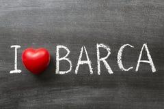 Kocham Barca Zdjęcie Royalty Free
