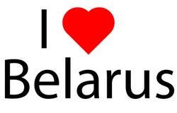 Kocham Białoruś Obraz Royalty Free