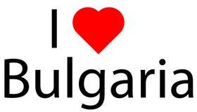 Kocham Bułgaria ilustracji