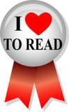 kocham button eps czytałem Zdjęcia Royalty Free