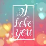 kocham cię Pisać list projekt Fotografia Stock