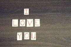 kocham cię Fotografia Stock