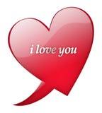 kocham cię, serce Obrazy Royalty Free