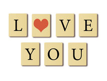 Kocham ciebie. Obrazy Royalty Free