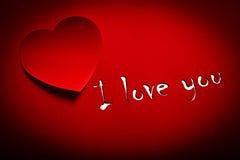 Kocham Ciebie Zdjęcie Stock