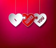 Kocham Ciebie łamigłówek serca Zdjęcia Stock