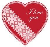 Kocham Ciebie Czerwony serce Zdjęcia Stock