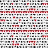 Kocham ciebie deseniowego Zdjęcie Stock