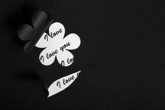 Kocham ciebie handmade karta Zdjęcie Stock