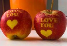 Kocham ciebie jabłczanego obraz royalty free