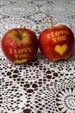 Kocham ciebie jabłczanego fotografia royalty free