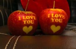 Kocham ciebie jabłczanego zdjęcie stock