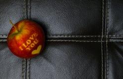 Kocham ciebie jabłczanego zdjęcia stock