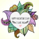Kocham ciebie karcianego dla valentines dnia Obrazy Royalty Free