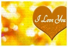 Kocham ciebie kartka z pozdrowieniami Fotografia Stock