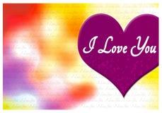 Kocham ciebie kartka z pozdrowieniami Zdjęcia Stock