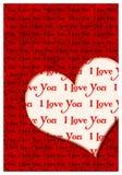 Kocham ciebie kartka z pozdrowieniami Fotografia Royalty Free