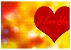 Kocham ciebie kartka z pozdrowieniami Obrazy Stock