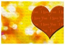 Kocham ciebie kartka z pozdrowieniami Zdjęcie Royalty Free
