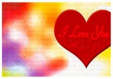 Kocham ciebie kartka z pozdrowieniami Obraz Royalty Free