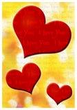 Kocham ciebie kartka z pozdrowieniami Obraz Stock