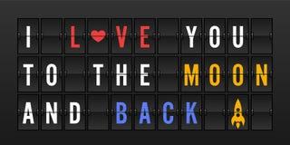 Kocham ciebie księżyc i popieram Obrazy Stock