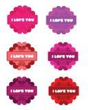 Kocham Ciebie Kwitnę Fotografia Stock