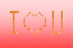 Kocham ciebie logo Zdjęcia Royalty Free