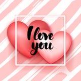 Kocham ciebie serca Zdjęcia Stock