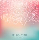 Kocham ciebie tło 02 Obrazy Stock