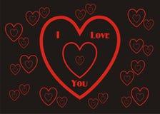 Kocham Ciebie Tapetowy tło Giftwrap Obraz Royalty Free