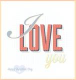 Kocham Ciebie walentynka dnia karta Zdjęcia Stock