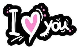 Kocham ciebie wiadomość ilustracji