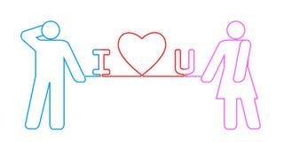 'kocham ciebie' związek Zdjęcie Stock