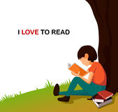 Kocham czytelniczą ilustrację Fotografia Stock